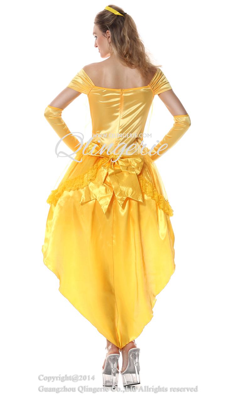 Princess Belle Costume Woman, Asymmetric Adult Belle Costume, Disney Belle Costume, #N6558