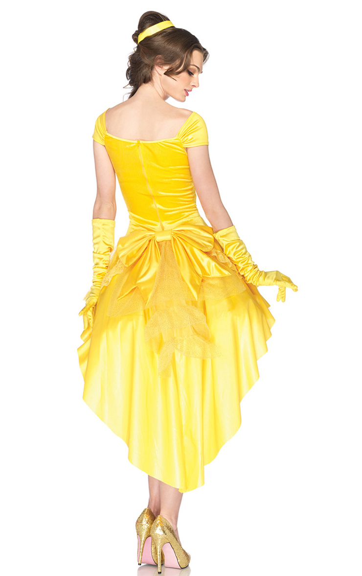 Princess Belle Costume Woman, Asymmetric Adult Belle Costume, Disney Belle Costume,Adult Pantomine Princess Belle Costume, Belle Princess Look Adult Costume, #N6558