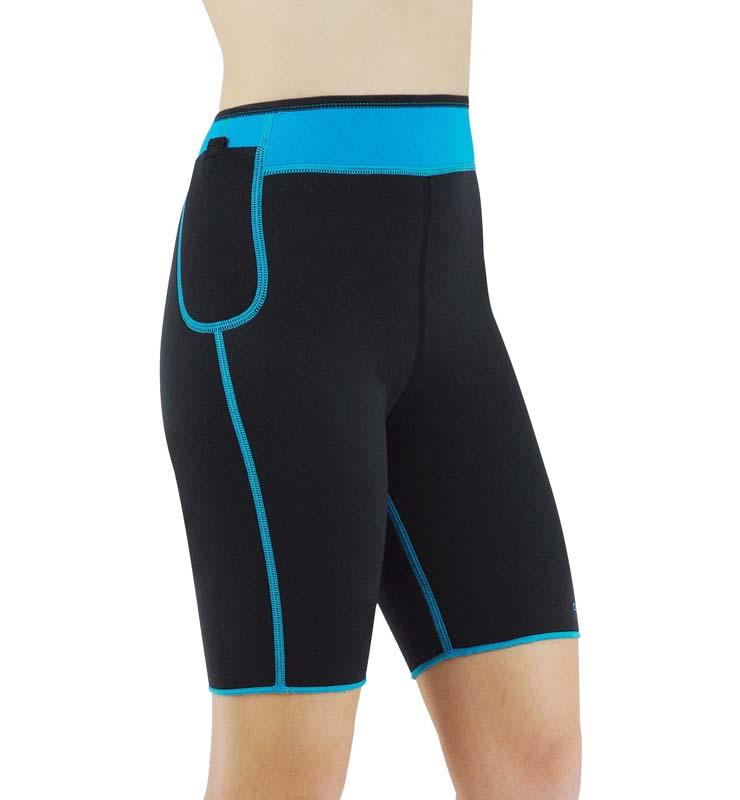 Neoprene Energy High Waisted Exercise Shorts N10648