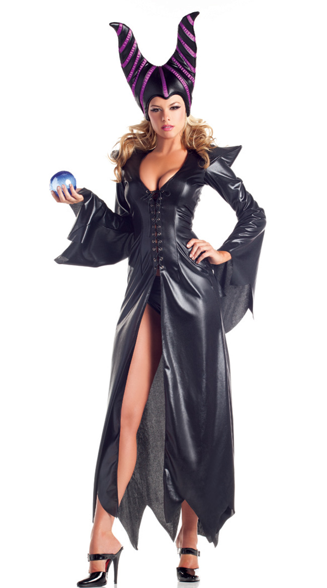 evil maleficent witch halloween costume n11181 - Salem Witch Halloween Costume