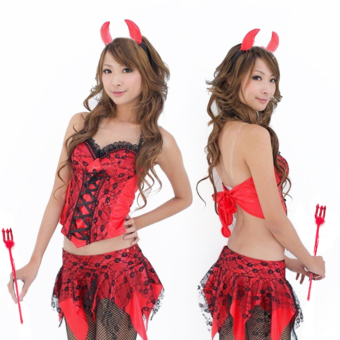 Sexy lingerie dresses devil