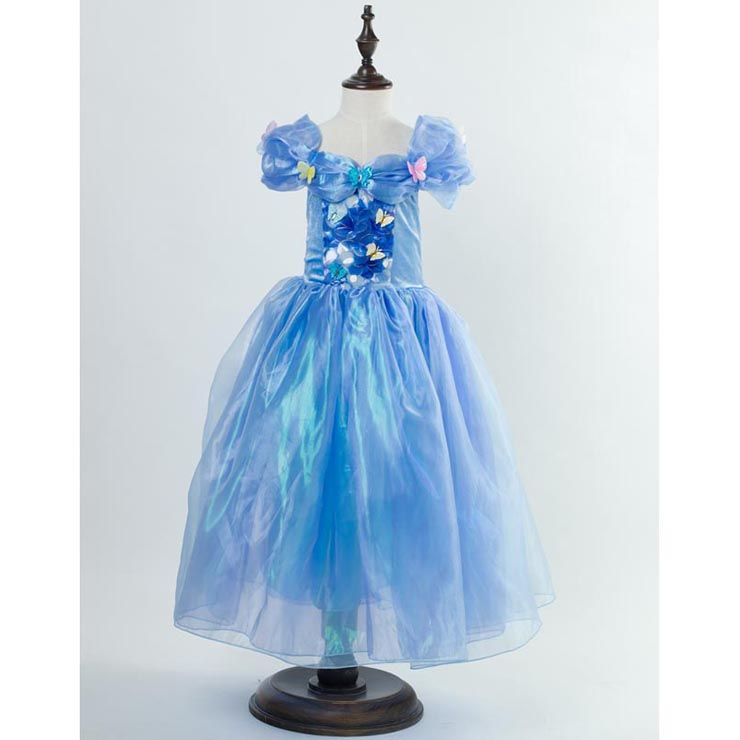 Fairy Cinderella Kid Princess Dress Costume N10351