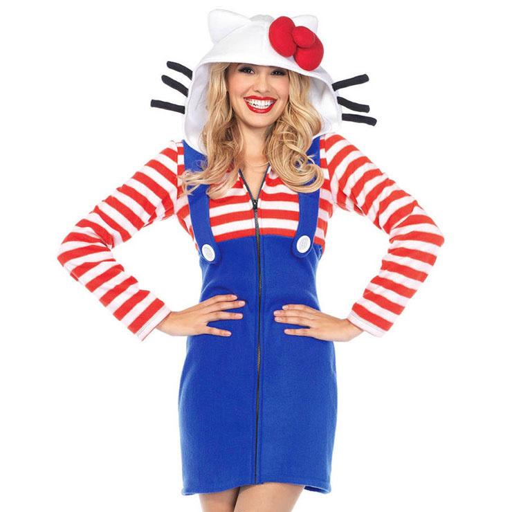 Women's Fairy Tale Kitty Cat Cosplay Halloween Adult Costume N16125