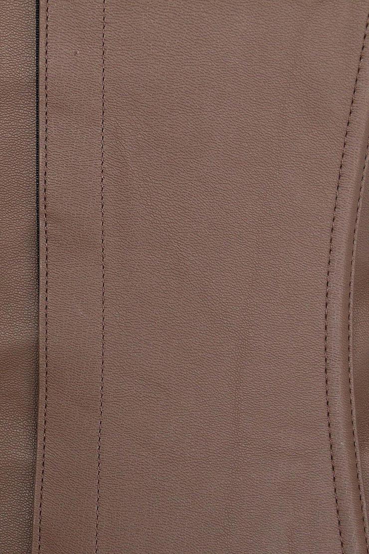 Fashion Brown Corset, Cheap Lady Leather Underbust Corset, Punk Underbust Corset, #N10018