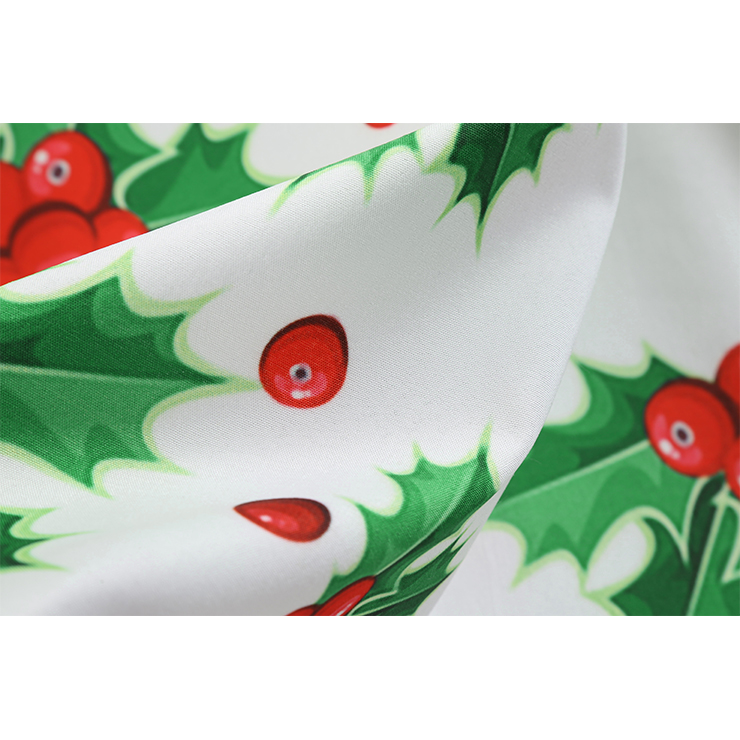Vintage Dress for Women Snowflake, Christmas Dresses for Women Cocktail Party, Casual Swing Dress, Long Sleeves High Waist Swing Dress, Christmas Holly Dress, Christmas Party Dress, #N18571