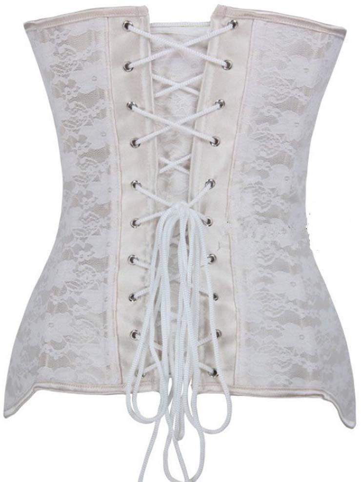 Steel Bone Corset, Fashion Apricot Satin Lace Underbust Corset, Bride Corset, Cheap Underbust Corset, Elegant Silk Ribbon Satin Corset,  #N9747