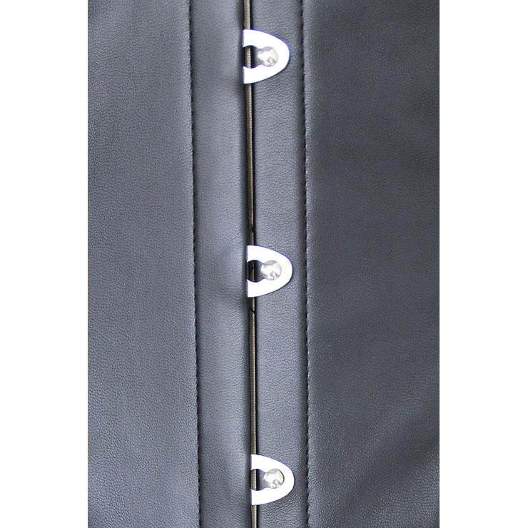 Fashion Faux Leather Underbust Corset, Cheap Waist Cincher Corset, Gold Lace Corset, Women