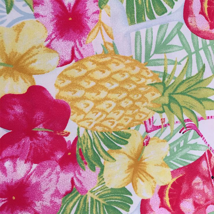 Lovely Flamingo Printed Shirt, Casual Short Sleeve Tops, Printed Slim Fit T-shirt, Women