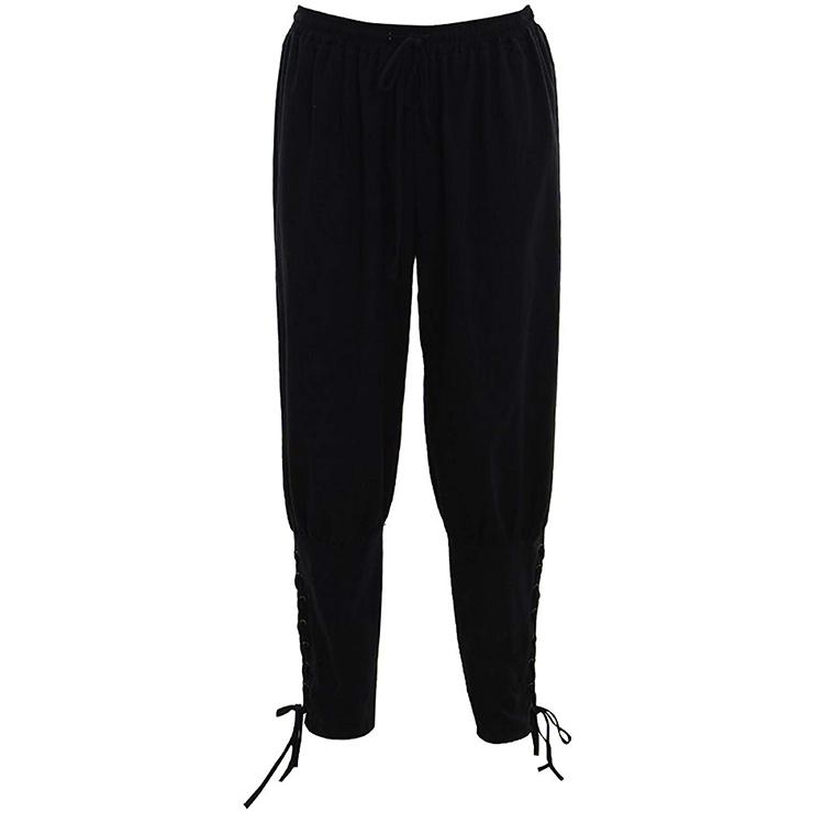 Men's Fashion Elastic High Waisted Costume Jodhpurs Comfort Sweatpants N19049
