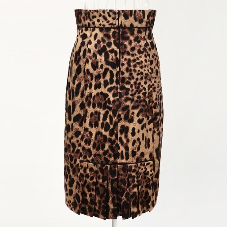 Leopard Print Bodycon Skirt , High Waist Skirt, Sexy Leopard Print Midi Skirt, Leopard Print Barrel Skirt, Sexy Leopard Pattern Tube Skirt, Office Skirts, Fitting Skirt, Pencil Skirt, Package Hip Skirt, Retro Skirt, #N18433