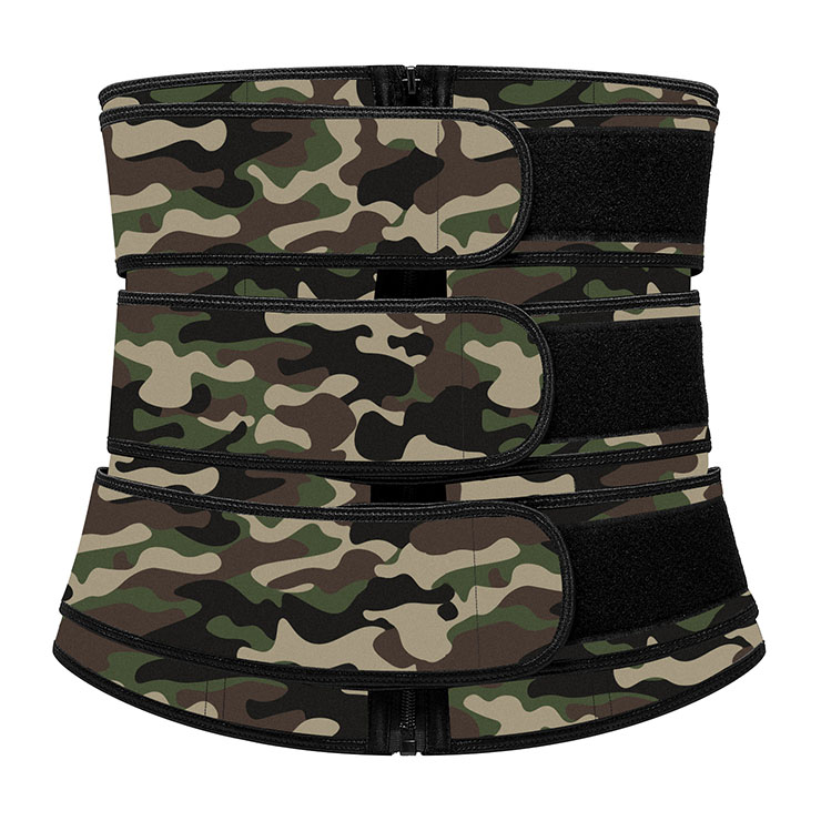 Fashion Camouflage-green Neoprene Velcro Sports Waist Trimmer Bones Body Shaper Belt N20905