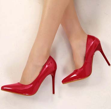 Fashion Women's Office Party Red Pointed Toe Stiletto Shoes SWS20250