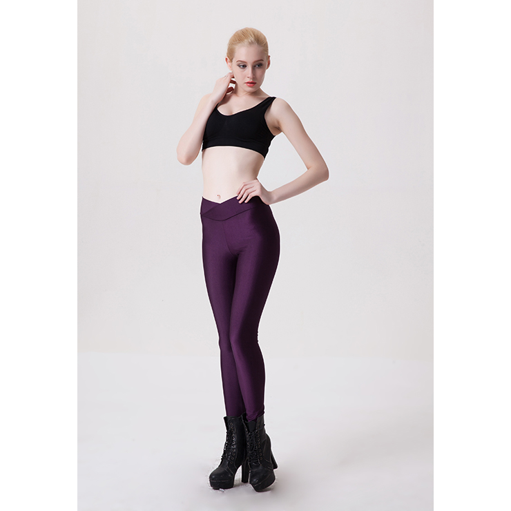 Sexy Purple Stretchy Pants Tights Workout Leggings Yoga ...