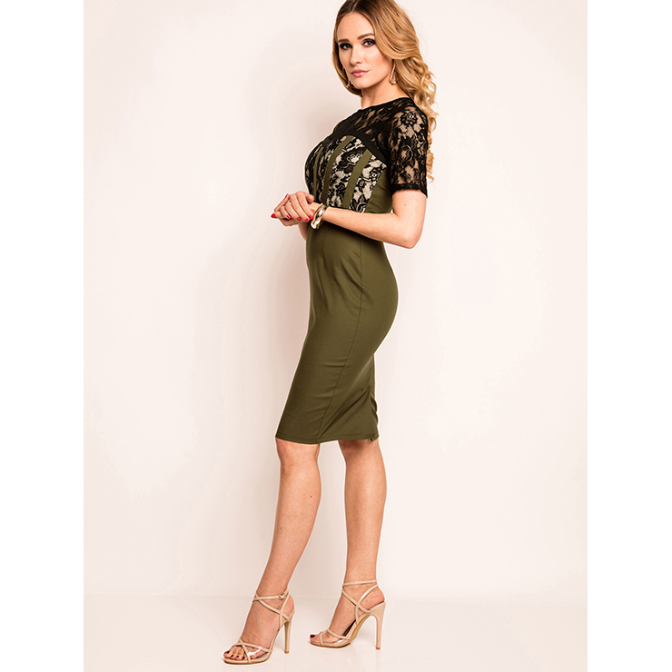 Summer Bodycon Dresses for Women, Army Green Bodycon Dress, Casual Dress for Women, Fashion Dress for Women, Solid Color Dress, Office Lady Bodycon Dress, #N14571