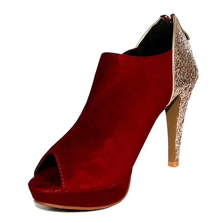 Red Open Toe Heels | Fs Heel