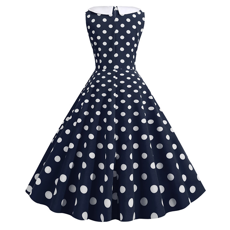 Sexy A-line Swing Dress, Retro  Polka Dots Print Dresses for Women, Vintage Dresses 1950