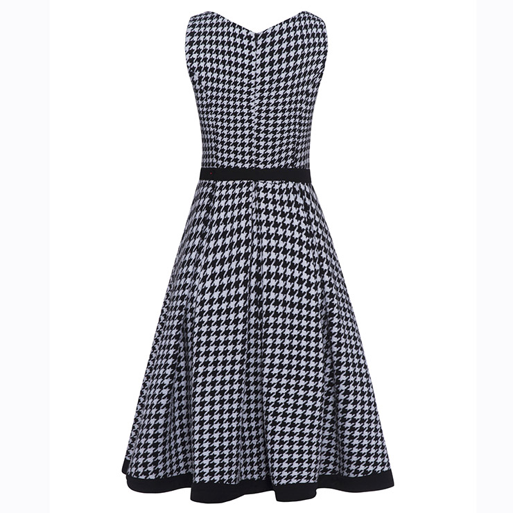 Women S Fashion Two Pieces Long Sleeve Houndstooth Print Dress Suit