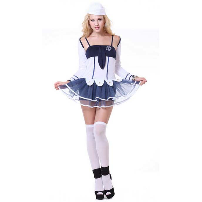Fashion Women's Navy-Blue Sailor Suit N10081