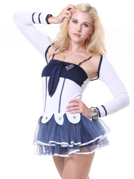 Fashion Sailor Suit, Lady Navy-Blue Dress, Hot Selling Women