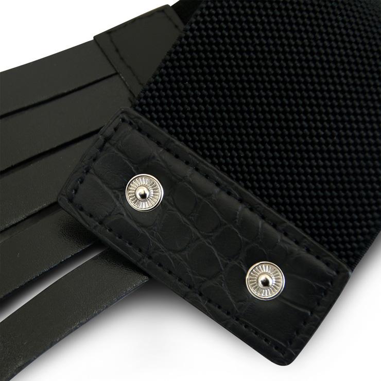 Punk Waist Belt, Metal Waist Belt, Vintage Waist Belt, Elastic Waist Belt, Waist Belt for Women, Wide Cinch Belt, Black Girdle, #N15383