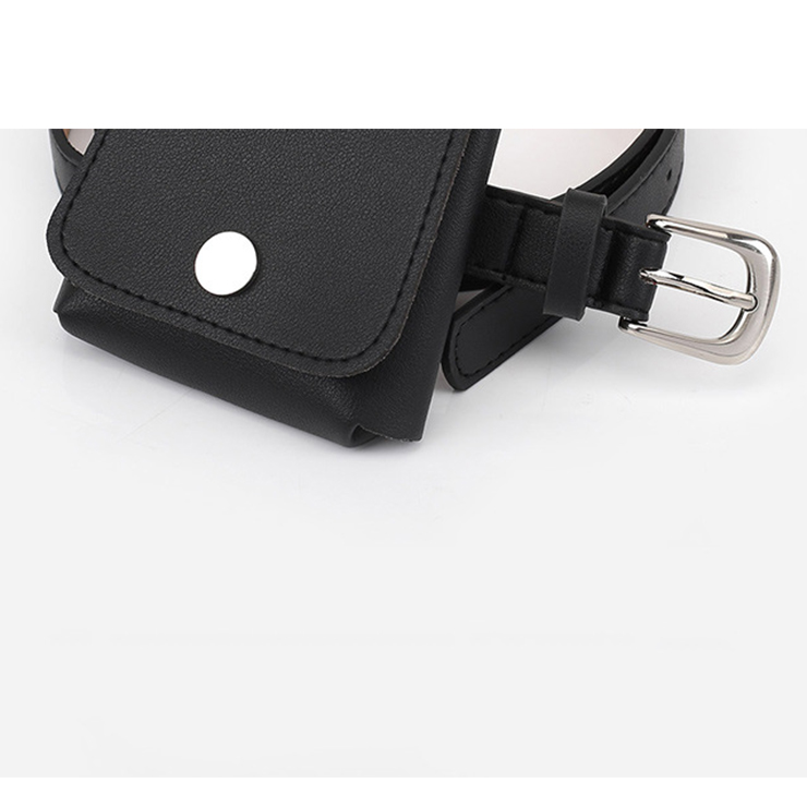 Fashion Waist Belt, Waist Belt with Pouch, Waist Pouch Fashion Belt Bags, Waist Belt for Women, Waist Belt with Mini Purse, Casual Travel Waist Belt, Black Girdle for Women, #N18203