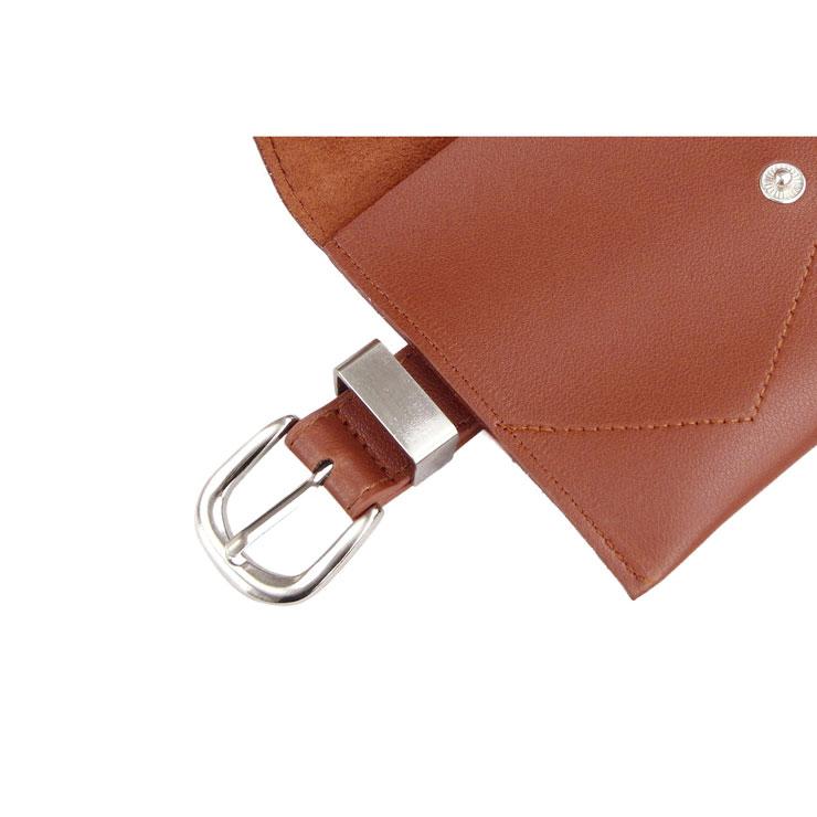 Fashion Waist Belt, Waist Belt with Pouch, Waist Pouch Fashion Belt Bags, Waist Belt for Women, Waist Belt with Mini Purse, Casual Travel Waist Belt, Brown Girdle for Women, #N17472