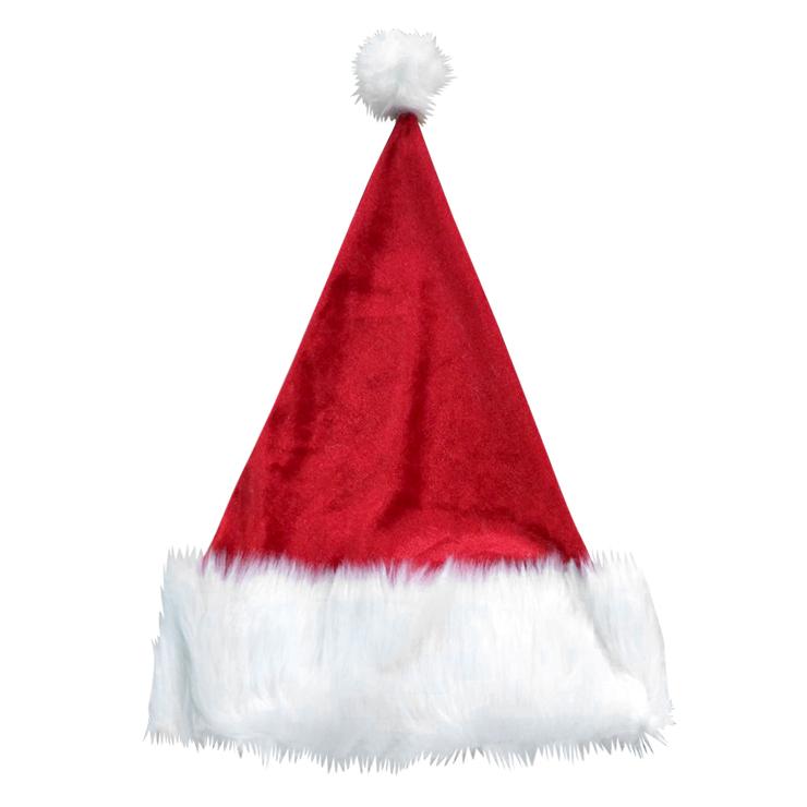 Fleece Trimmed Santa Hat, Santa Hat wholesale, #HG2204