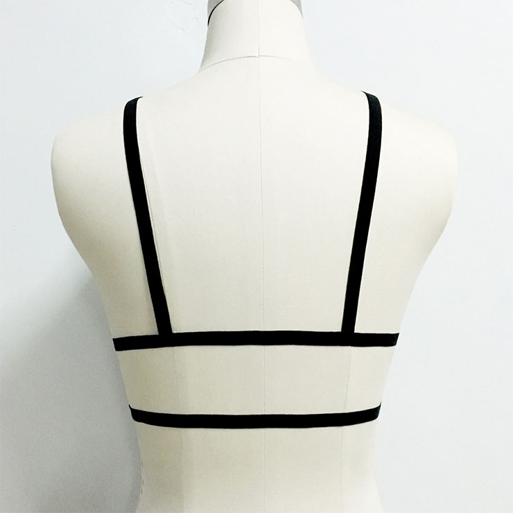 Sexy Bra Straps, Black Sexy Bundle Elastic Starps for Women, Bondage Body Harness, Sexy Open Bra, Sexy Cupless Bra Underwear, #N21423