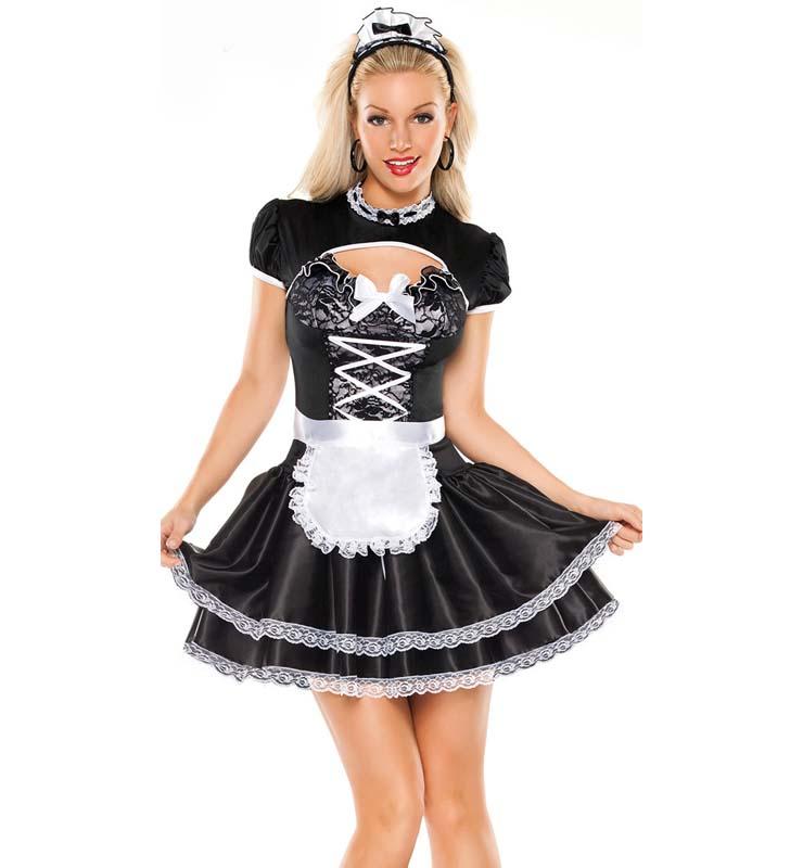 flirty french maid costume n10828