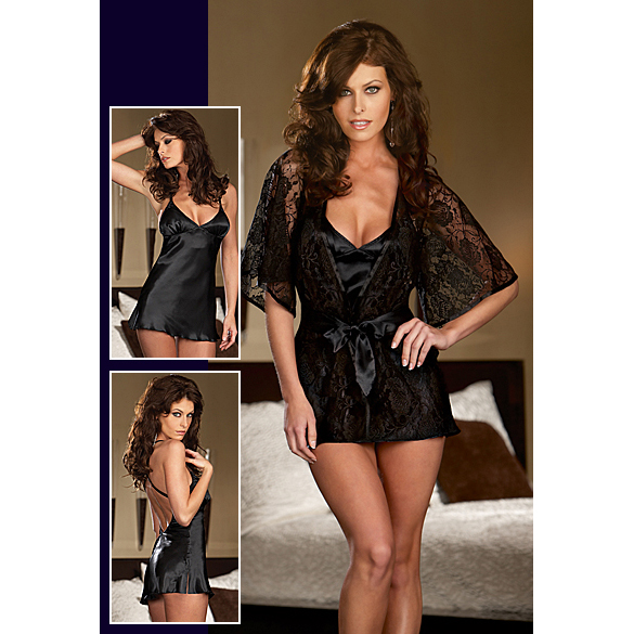 Hot Floral Lace robe C2217