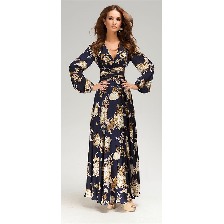 Formal long sleeve maxi dresses