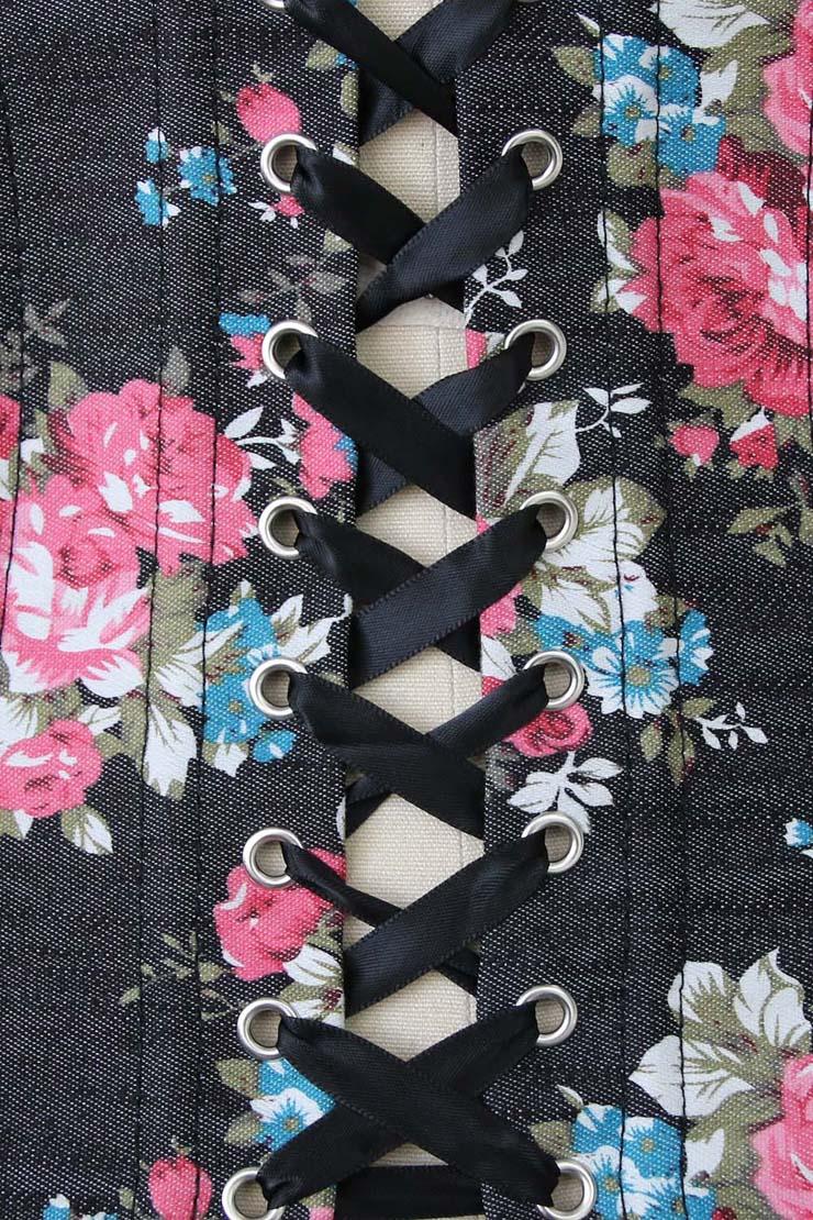 Floral Fantasy Underbust Corset, Floral Corset, Floral Underbust Corset, #N5511