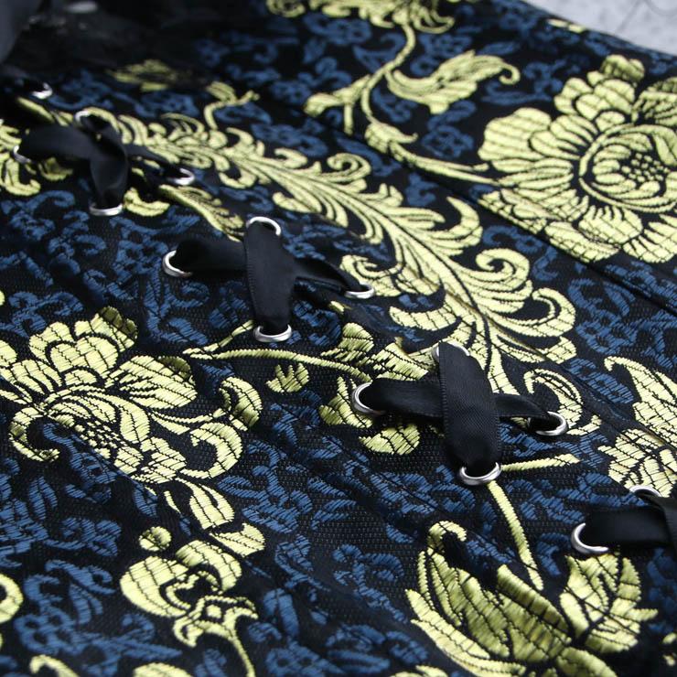 Sexy lingerie wholesale, Flower brocade metal boning corset, Satin Strapless Corset. #CB1685