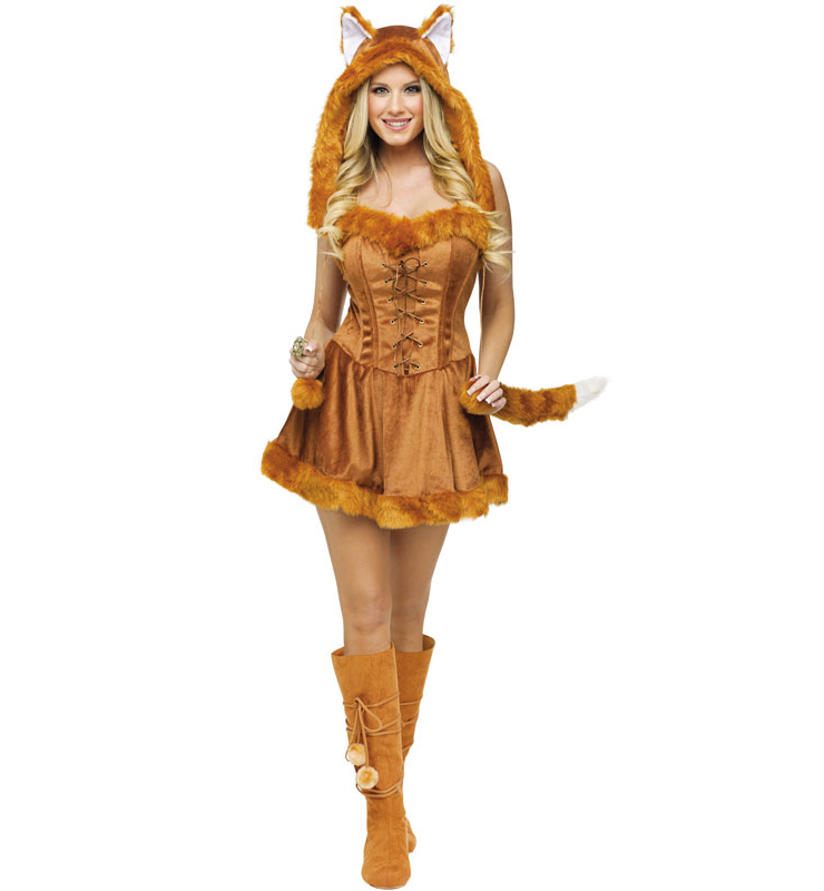 Foxy Roxy costume, Fox Halloween Costume, Foxy Lady costume, #N4814