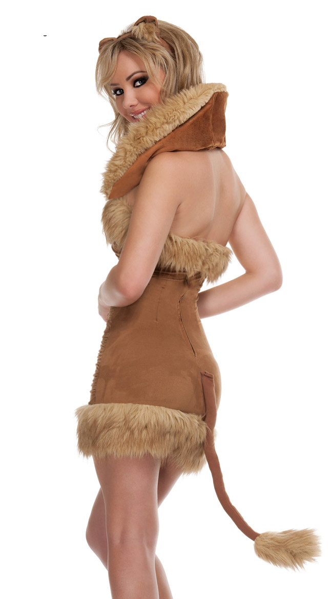 Foxy Roxy Costume, Queen Of The Jungle Costume, Adult Lion Costume, #N4816