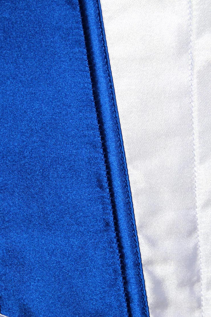France Flag Overbust Corset, France Flag Pin Up Corset, Burlesque France Flag Corset, Sexy Strapless Overbust Corset, #N8075