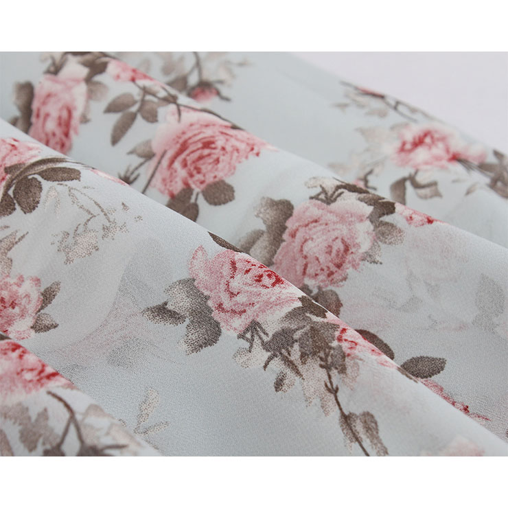 Fresh Summertime Floral Printed A-line Swing Dress, Retro Dresses for Women 1960, Vintage Dresses 1950