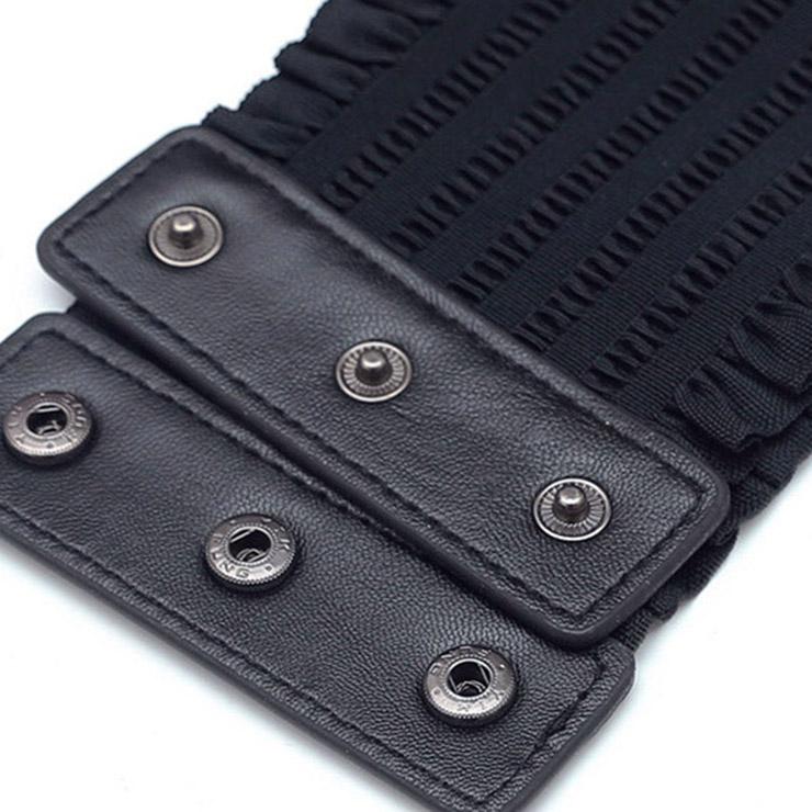 Tied Wasit Belt, High Waist Corset Cinch Belt, Steampunk Wasit Belt, Waist Cincher Belt Black, Lace Up Wide Waistband Cinch Belt, Elastic Waist Belt, #N14801