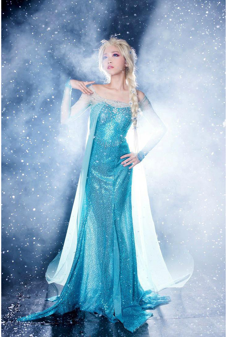Frozen sparkle blue princess elsa costume n9189 - Princesse frozen ...