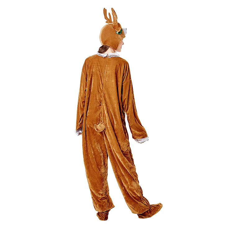 Animal Elk One-piece Pajamas, Exclusive Monster Costume, Exclusive Halloween Monster Costume,Monster Halloween Costume, Funny Furry Monster Costume, Monster Halloween Costume, Circus Girl Clown Cosplay, #N20734