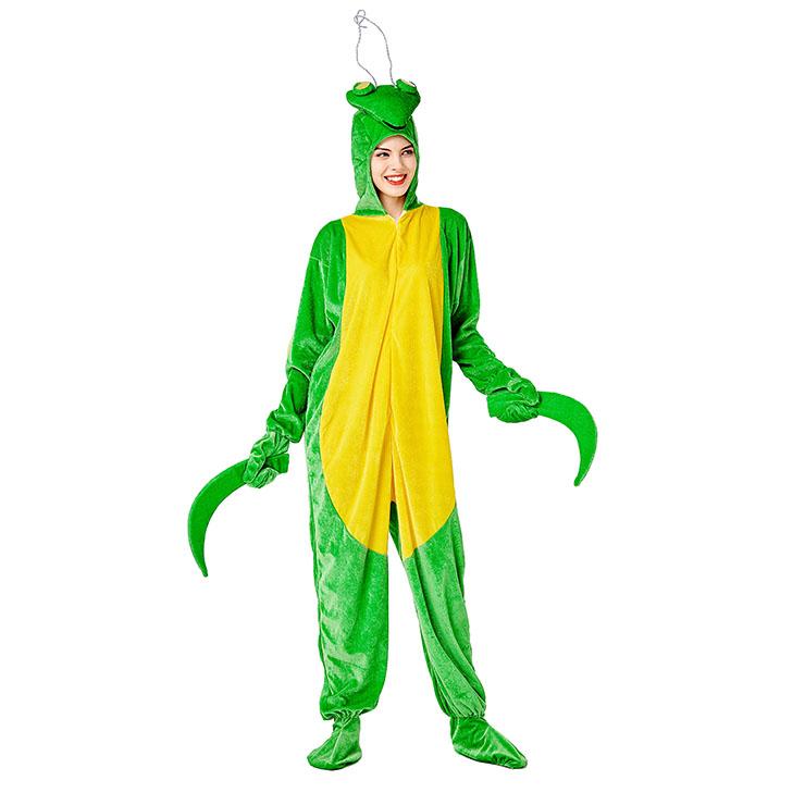 3pcs Unisex Funny Razor Mantis Animal Bodysuit Pajama Adult Cosplay Halloween Costume N20733