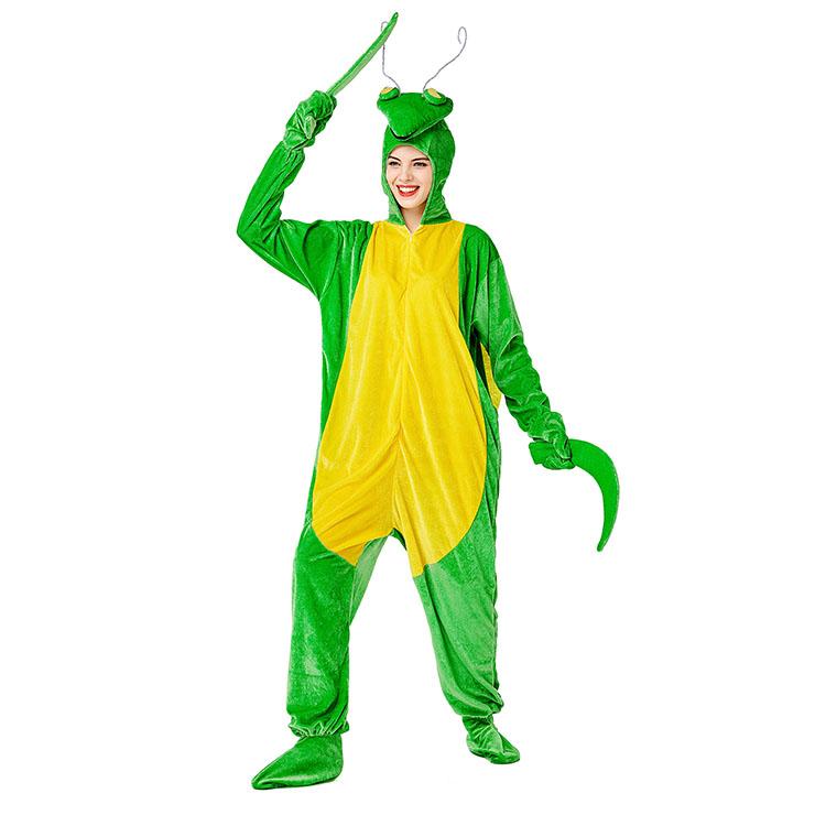 Animal Razor Mantis One-piece Pajamas, Exclusive Monster Costume, Exclusive Halloween Monster Costume,Monster Halloween Costume, Funny Furry Monster Costume, Monster Halloween Costume, Circus Girl Clown Cosplay, #N20733