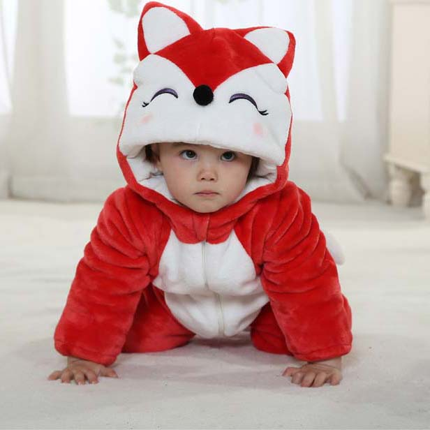 Red And White Baby Outfit, Comfortable Flannel Baby Costume, Cheap Ali Baby Climbing Clothes,  Funny Red Ali  Romper, #N9794