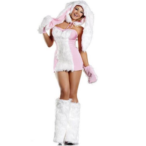Fur Blushing Bunny Costume N5899