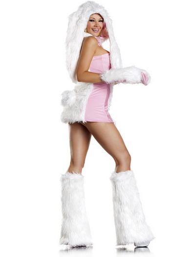 Blushing Bunny costume, Fur Blushing Bunny Costume, Bunny Costume, #N5899