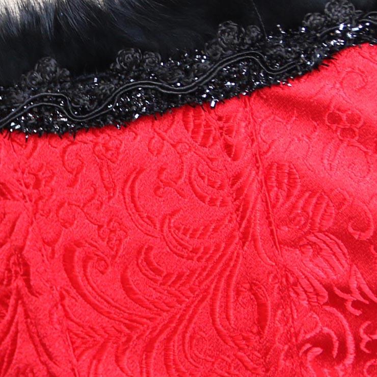 Fur Trimmed Corset, brocade Corset, Sexy Corset, Sexy Clubwear Corset, Sexy Wiast Cincher, Sexy Bodyshaper, #N2272