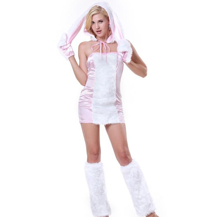 Exclusive Furry Bunny Girl Costume Shaggy Rabbit Cosplay Halloween Costume N18250