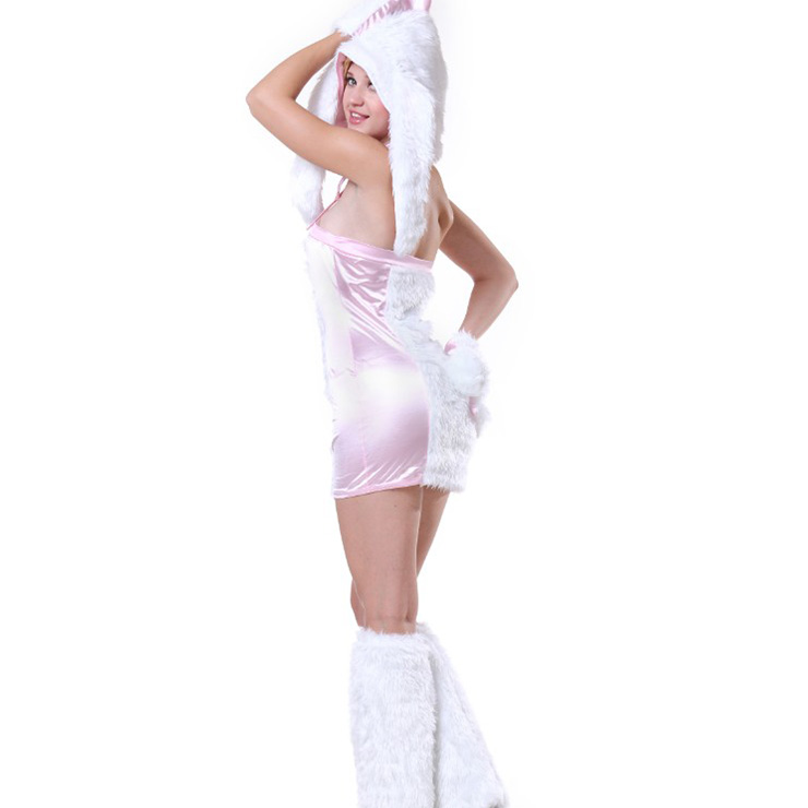 Exclusive Pink Bunny Girl Costume, Exclusive Monster Costume, Pink Monster Halloween Costume, Funny Furry Bunny Girl Costume, Monster Halloween Costume, Circus Girl Clown Cosplay, #N18228