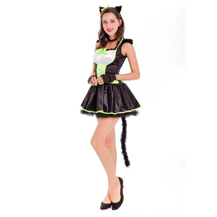 Furry Cat Costume, Cute Cat Costume, Womens Cat Costume, Furry Cat Outfit, Animal Costume, #N14745