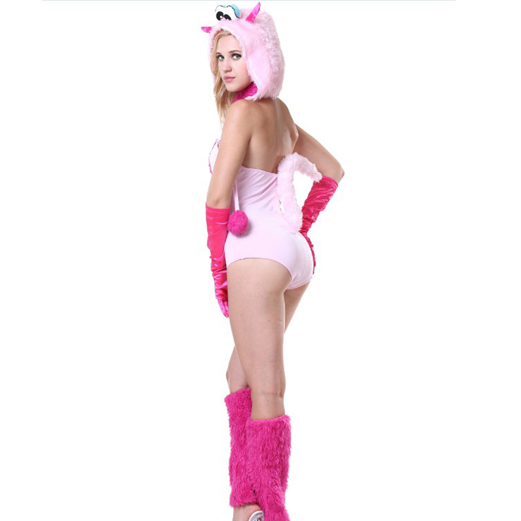 Exclusive Polly Pink Monster Costume, Exclusive Monster Costume, Pink Monster Halloween Costume, Funny Furry Monster Costume, Monster Halloween Costume, Circus Girl Clown Cosplay, #N18228